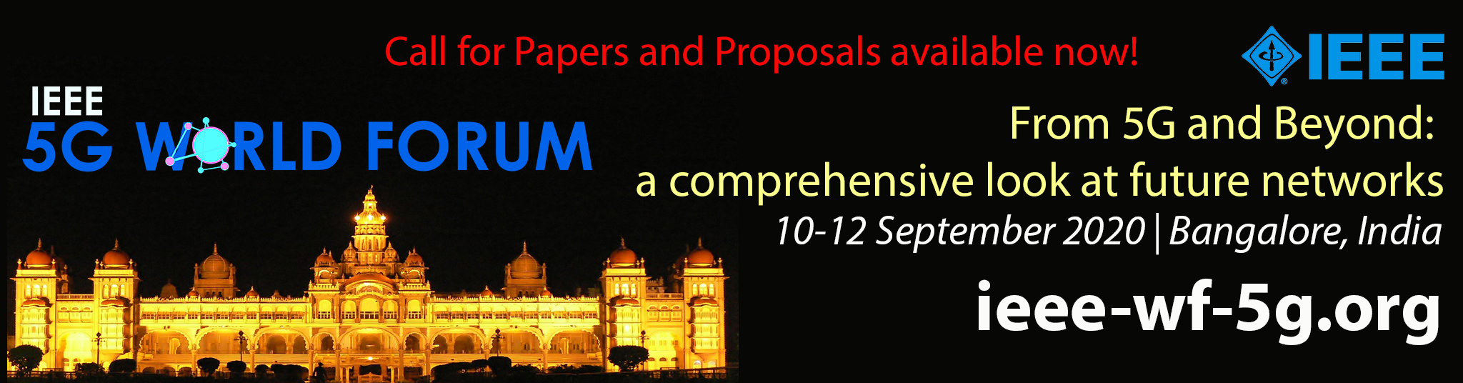 IEEE 5G World Forum Call for Papers and Proposals