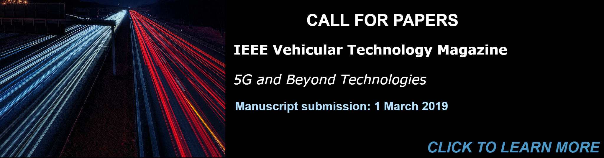 Call for Papers Vehicular Technology Magazine